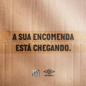 Apresentação do novo manto acontecerá nesta quinta-feira (Crédito   Reprodução Twitter Santos FC) ba7f5af730f12