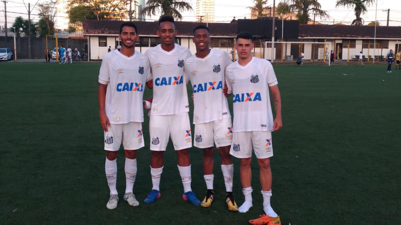 Santos faz 6 a 0 no São Bernardo e segue vivo no Paulista Sub-20