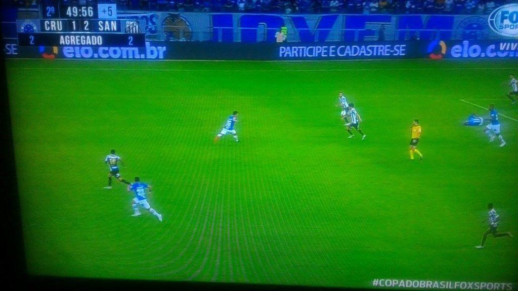 Santos fará protesto oficial contra árbitro contra o Cruzeiro