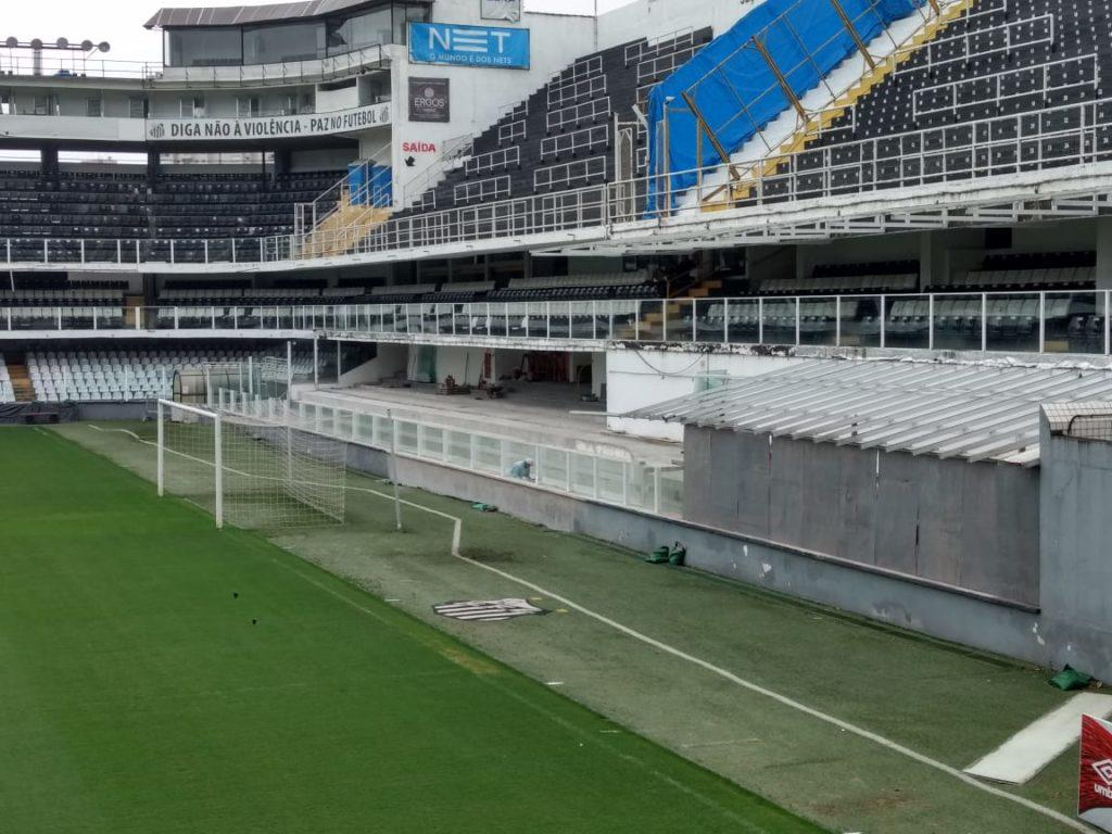 Santos quer inaugurar novo setor da Vila contra Atlético-PR
