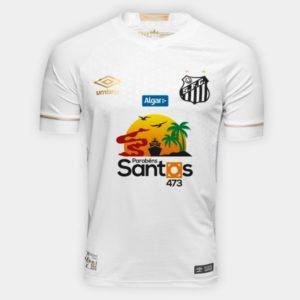 8a1f957632 Peixe homenageia a cidade de Santos na camisa da estreia – Diário do ...