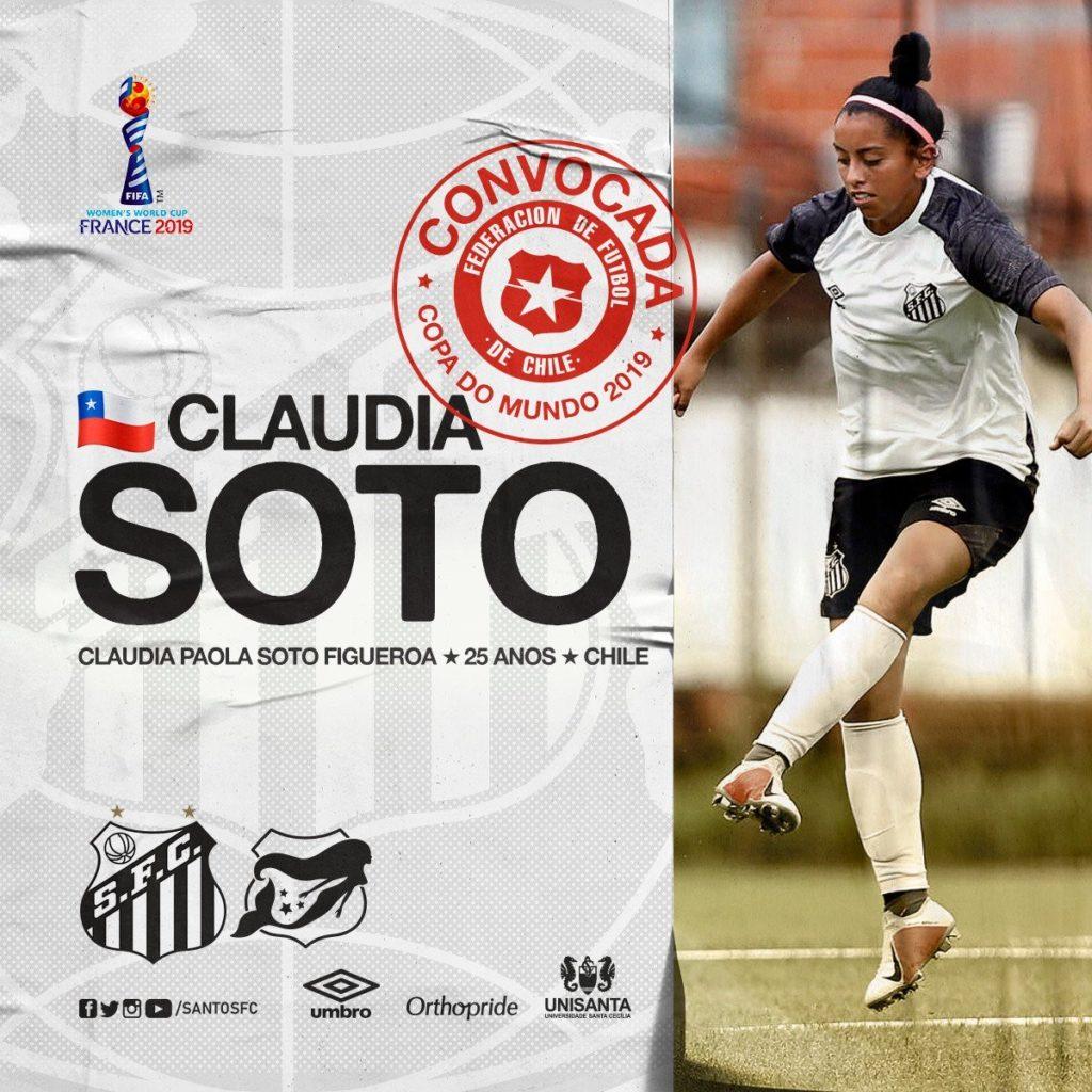 Claudia Soto será a Sereia da Vila na Copa do Mundo Feminina