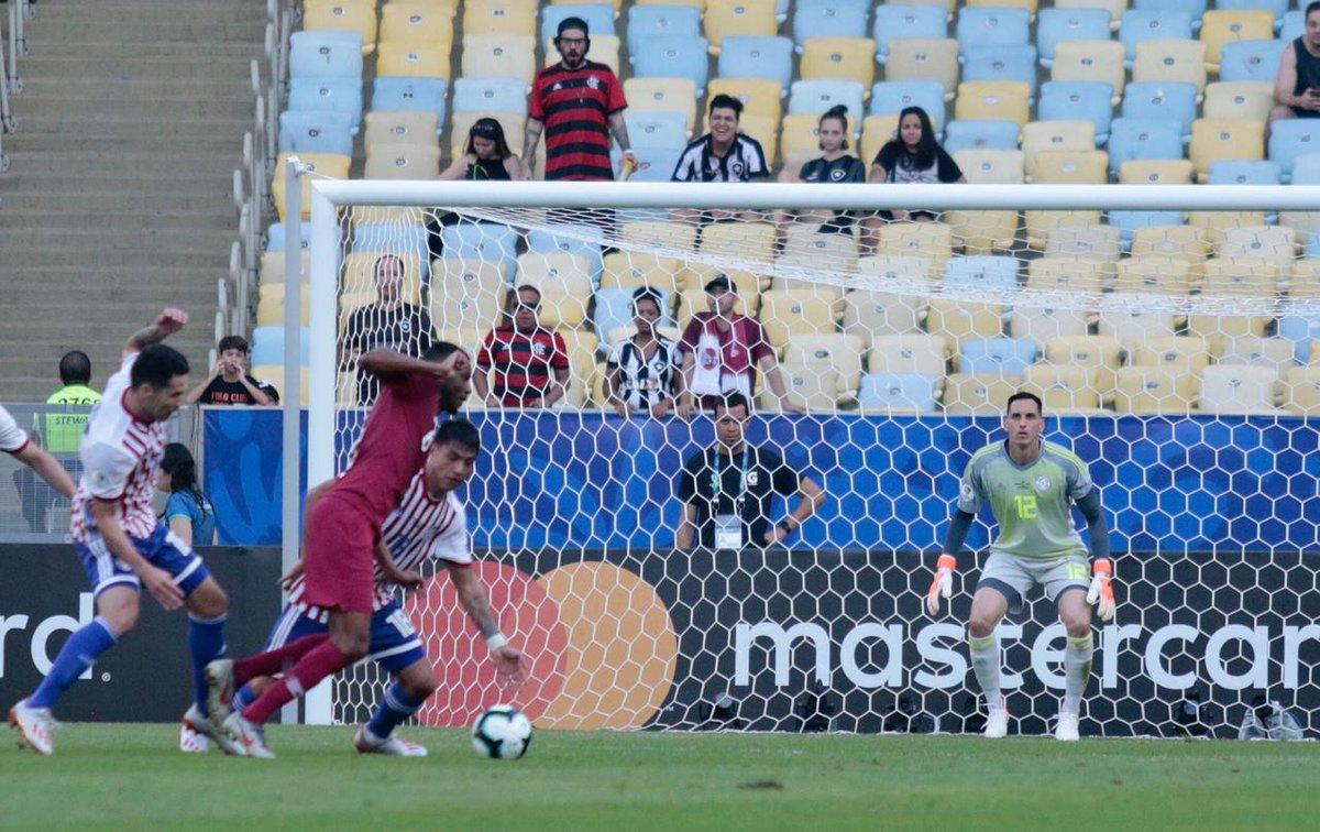 Copa América: Derlis faz belo gol em empate entre Paraguai e Catar