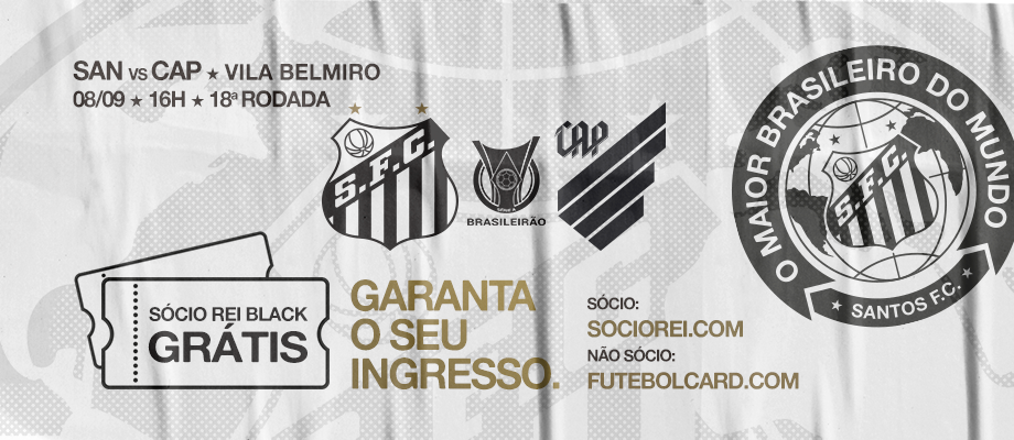 Com novos preços, Santos divulga venda de ingressos para Athletico-PR