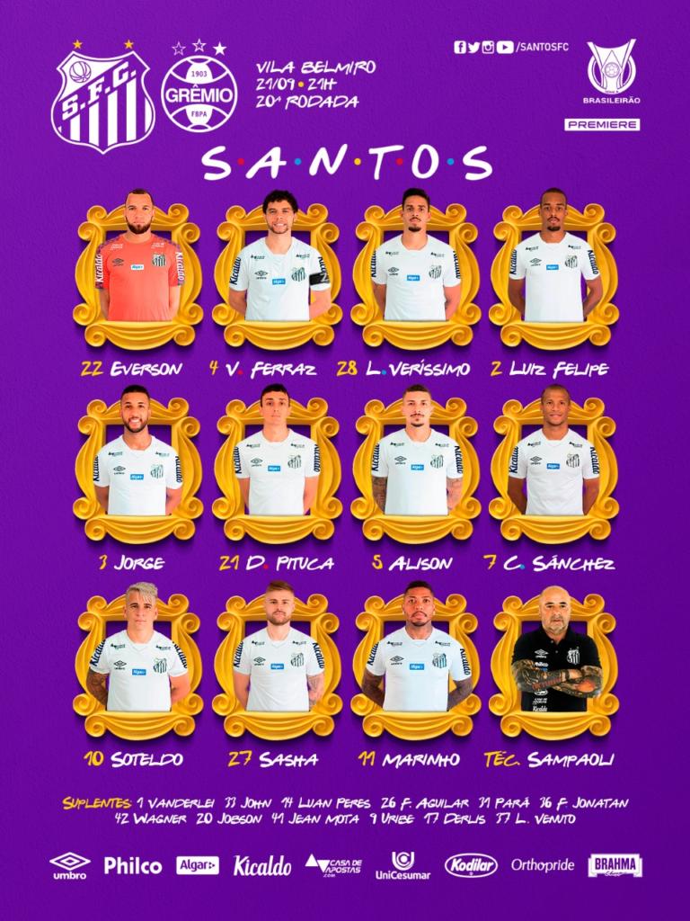 Luiz Felipe é a surpresa de Sampaoli, que escala só dois zagueiros