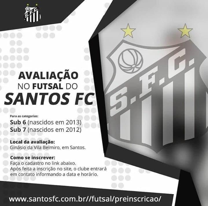 Futsal do Santos abre avaliações em busca de futuros raios