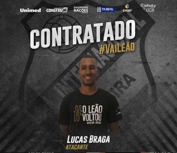 Lucas Braga jogará o Paulistão pela Inter de Limeira