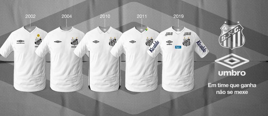 Santos e Umbro renovam parceria por mais uma temporada