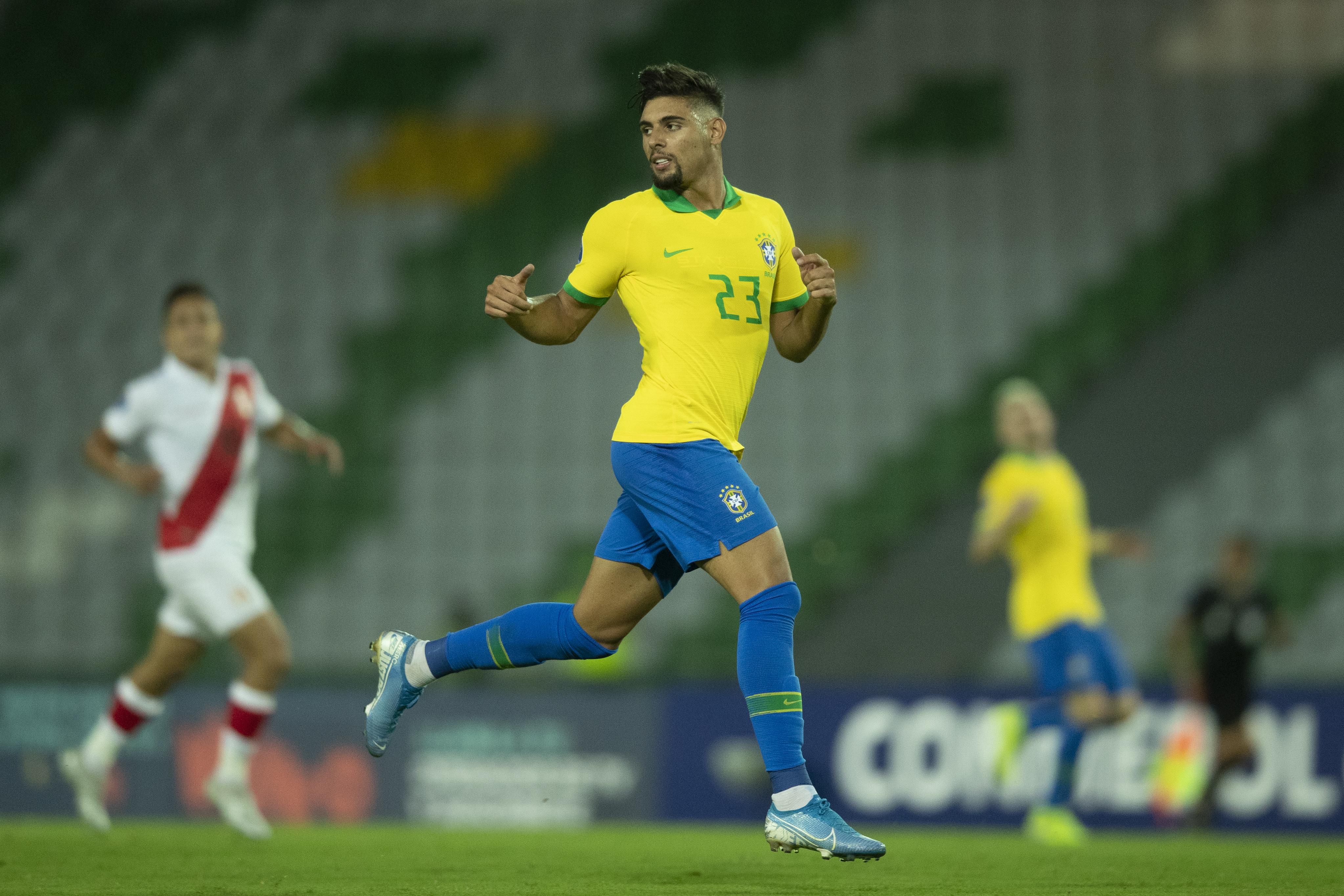 Yuri Alberto é titular em vitória do Brasil na estreia do Pré-Olímpico