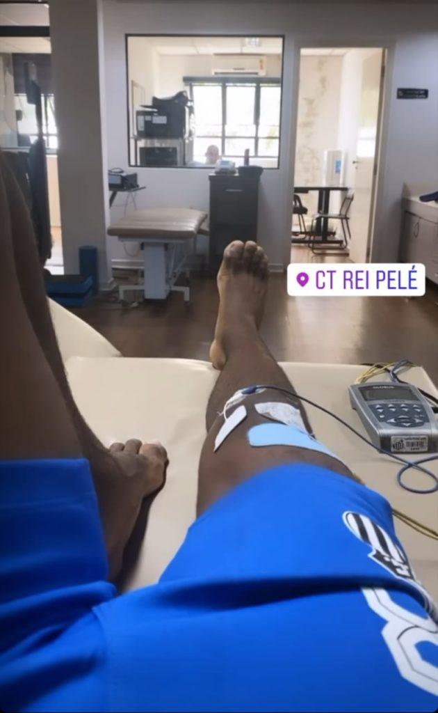 Mesmo na quarentena e férias, Renyer segue tratamento no CT Rei Pelé