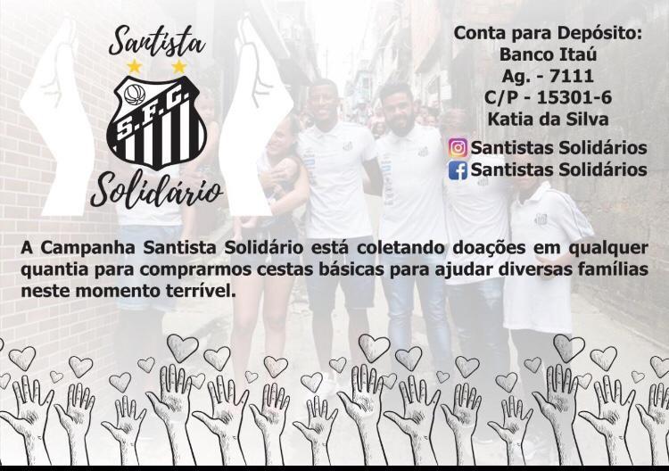 Santistas promovem campanha solidária para compra de cestas básicas